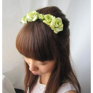 ヘッドドレス 髪飾り フォーマル 成人式 七五三 結婚式 和装 ウェディングアートフラワー(1-hair_lime01) misuzu1187