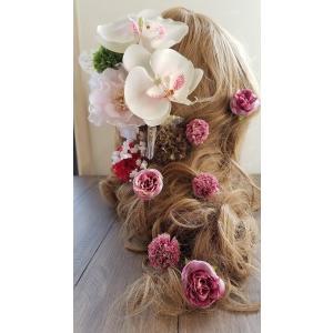 【得々アウトレット】ヘアパーツセット ヘッドドレス 海外ウェディング ラプンツェル風 髪飾り (2-out017)|misuzu1187