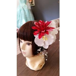 【得々OUTLET♪】アートフラワー 髪飾り ヘッドドレス ヘッドコサージュ ブライダルシーン 胡蝶蘭 和装 浴衣 (sale001)|misuzu1187