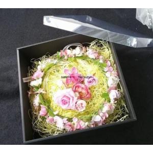 花冠 フラワーリース ギフトケース 母の日 インテリア プレゼント用 化粧箱 ご贈答 ギフト 保管用|misuzu1187