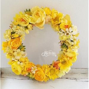 フラワーリース ウェルカムリース ギフト バラ 紫陽花 贈り物 ガーデン 玄関(2-wreath013)