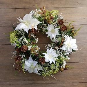 ナチュラルポインのリース ウェルカム・ドアリース ギフト ガーデン 玄関 2-wreath025|misuzu1187