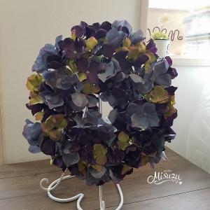 アンティークカラー秋色紫陽花のリース シック ドアリース インテリア 2-wreath029|misuzu1187