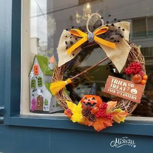 ハロウィンリース ギフト トリックオアトリート! 贈り物 パーティ 玄関2-wreath030