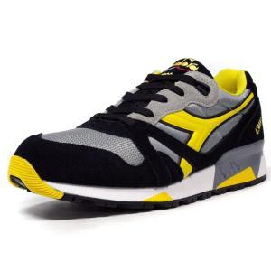 diadora N.9000 NYL GRY/BLK/YEL (160827-C3362) mita-sneakers