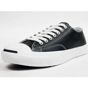 CONVERSE [コンバース レザー ジャックパーセル] LEATHER JACK PURCELL BLK (32241231)|mita-sneakers