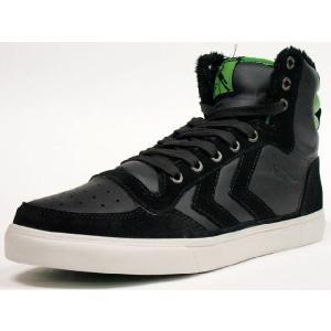 Hummel [ヒュンメル ウィンター スタディール ハイ] WINTER STADIL HIGH BLK/LIME (HM63150-2643) mita-sneakers