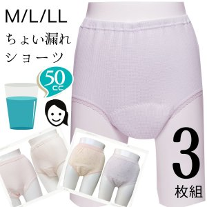 女性用 尿漏れ 失禁ショーツ ワッフル柄 50cc  32033  3枚組 5%オフ mitaka-japan