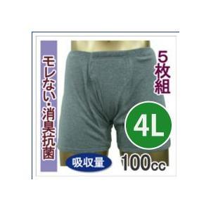 男性用 尿漏れ 失禁パンツ トランクス しっかり安心タイプ 100cc 4Lサイズ  33015  5枚組 5%オフ mitaka-japan