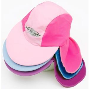 UVカットベビーキャップ ST32 子供用たれつき帽子XSサイズ 約38cm あごひも無し mitaka-japan