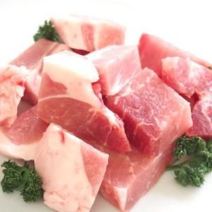 【冷凍】四万十こめ豚王 モモ肉 カレー用 500g 真空|mitaniya