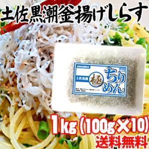 【冷凍】高知県産 土佐黒潮 釜揚げしらす 1kg(100g×10)|mitaniya