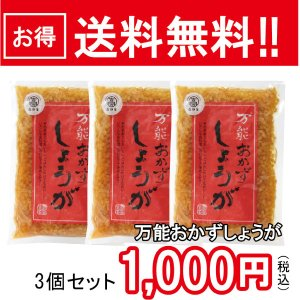 【常温】送料無料!万能おかずしょうが(四国健商)130g3個セット1000円|mitaniya