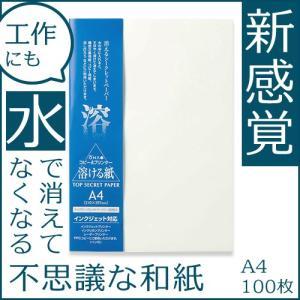 コピー プリンタ用紙 トップシークレットペーパー A4 100枚入 和紙 溶ける紙