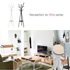 ポールハンガー ハンガー ラック 北欧 テイスト デザイン Rita 北欧風ポールハンガー おしゃれ 木製 スチール ホワイト ブラック|mitene|02