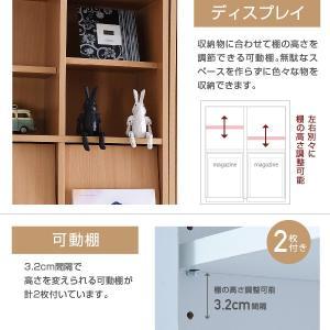 ディスプレイラック 6BOX 扉付き cd dvd 雑誌 が ディスプレイ 可能な ラック オープンラック フラップ 本棚 雑誌 マガジン 本 ラック 棚 幅 60 高さ90 木製|mitene|04