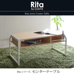 テーブル ローテーブル Rita 北欧風センターテーブル 北欧 テイスト おしゃれ 木製 スチール ホワイト ブラック|mitene
