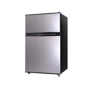 エスキュービズム 2ドア冷蔵庫90L WR-2090SL [シルバー] /在庫即納・送料無料!(配送は本州のみになります) mitene