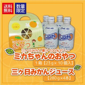 三ヶ日みかんジュース 4本入 ミカちゃんのおやつ 果汁100%ゼリー miti-fujikawarakuza