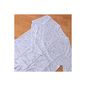 婦人用パジャマ Ivory(アイボリー) 花柄・襟なし・長袖 M、Lサイズ|mitibata