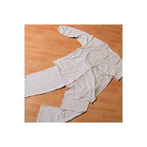 婦人用パジャマ Ivory 小花柄・襟なし・長袖 M・Lサイズ|mitibata