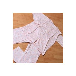婦人用パジャマ Yulica(ユリカ) 花柄・衿なし・長袖・M、Lサイズ|mitibata