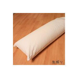 安眠 独寝(ひとりね)枕 超ソフトパイプ入り・高さ調節可能 カバー付 約35x90cm|mitibata