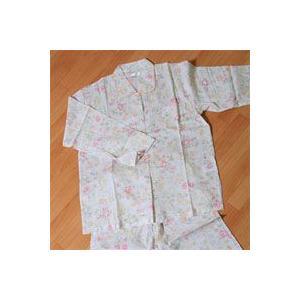 Ivory(アイボリー) 花柄・襟あり・薄手・長袖 婦人用パジャマ M、L|mitibata