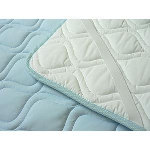 夏用敷きパッド シングルサイズ 100x205cm 東洋紡ドライアイス繊維|mitibata