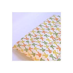手作り ウサギチャン ベビー敷き布団 70x120cm ポリエステル綿 保育園・お昼寝用に|mitibata