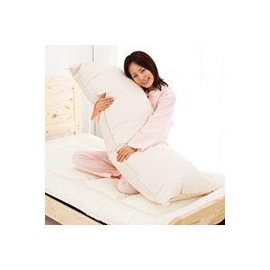 ウォッシャブル羽毛タッチ ロング枕 43x120cm 抱き枕としても|mitibata