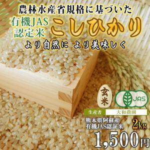 熊本 阿蘇 令和元年産 有機栽培米コシヒカリ(玄米)2kg 大和農園|mitinoekiaso