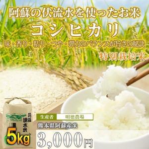 熊本 阿蘇 コシヒカリ 5kg 白米 明徳農場 令和2年産 あなたが選ぶ日本一おいしい米コンテスト 令和元年 プレミアム部門 優良金賞を受賞農家が作ったお米|mitinoekiaso
