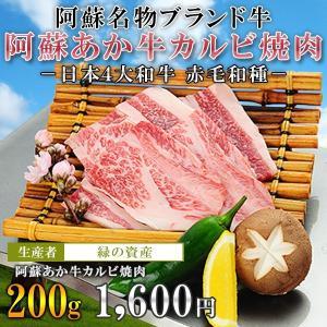 阿蘇あか牛カルビ焼肉200g/あか牛専門店 緑の資産|mitinoekiaso