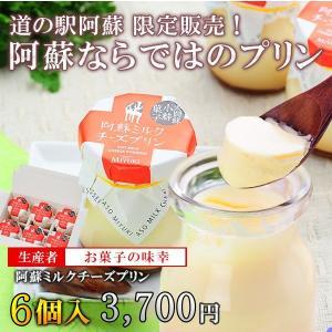 阿蘇ミルクチーズプリン(6個入)/お菓子の味幸 mitinoekiaso