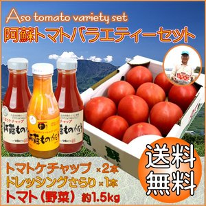 熊本 阿蘇 ギフト トマトバラエティーセット りんか 1.5kg トマトケチャップ ドレッシング|mitinoekiaso