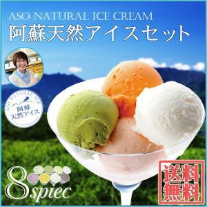 阿蘇 天然 アイス 8個入セット 熊本 道の駅 阿蘇 素材にごだわったアイス|mitinoekiaso