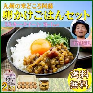 お米 熊本 阿蘇 令和元年産 ギフト 2kg 卵かけごはん ミルキークイーン B-1セット|mitinoekiaso