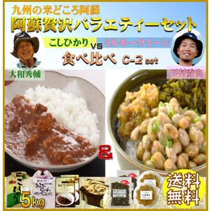 お米 30年産 熊本 阿蘇の特産ギフト 贅沢 5kg×2袋 コシヒカリ ミルキークイーン C-2セット|mitinoekiaso