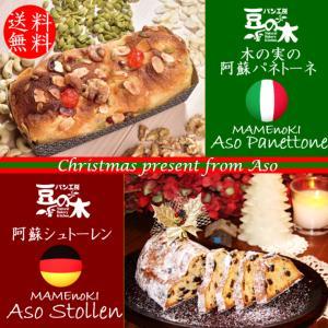クリスマス 熊本 阿蘇 ギフト パネトーネ & シュトーレン パン工房豆の木|mitinoekiaso