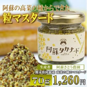 阿蘇高菜の国産マスタード「阿蘇タカナード」70g/阿蘇さとう農園|mitinoekiaso