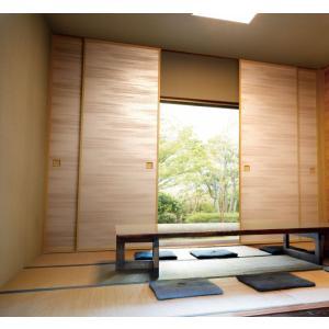 凜(rin)310 新鳥の子(茶裏)ふすま紙,襖紙 茶色系縞柄 巾94cm 長さ1メートル単位切り売り|mitokamiten
