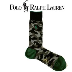 靴下 ロゴ メンズ POLO Ralph Lauren ポロ ラルフローレン made in JAPAN 日本製 カモフラージュ 迷彩 グリーン ロング 長め 02015301-98|mitoman