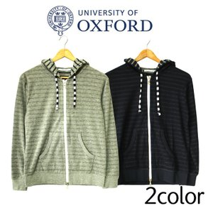 University of Oxford ユニバーシティオブオックスフォード ジップアップパーカー 長袖 ネイビー グレー メンズ カジュアル ボーダー|mitoman