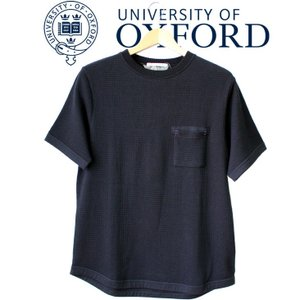 University of Oxford ユニバーシティオブオックスフォード 無地 ワッフル サーマル Tシャツ メンズ ポケット 無地tシャツ 半袖 シンプル 大人 上品 カジュアル|mitoman
