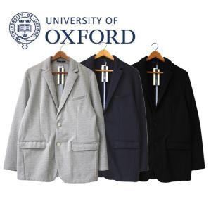 University of Oxford テーラードジャケット アウター  ポンチ ネイビー 紺 メンズ カジュアル シンプル|mitoman