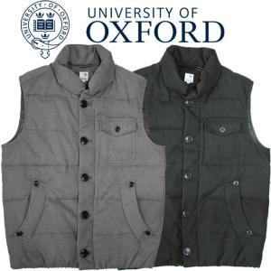University of Oxford ユニバーシティオブオックスフォード 中綿ベスト メンズ カジュアル シンプル チャコール グレー ブラック 黒|mitoman
