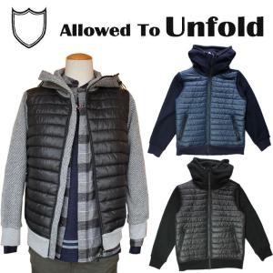 メンズ Allowed To Unfold アロウドトゥアンフォールド ジャケット 裏起毛 中綿 フード付き |mitoman