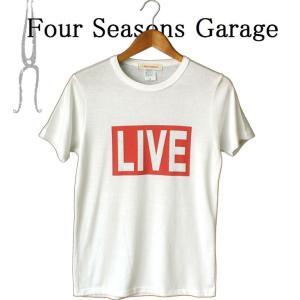 LINESTUDIO-R Four Seasons Garage LIVE プリント 半袖Tシャツ ストレッチ Tシャツ メンズ 半袖 ボックスロゴ logo 大人カジュアル シンプル|mitoman