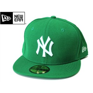 NEWERA ニューエラ NY YANKEES ニューヨーク ヤンキース 59FIFTY MLB CAP ベースボール 定番 キャップ メジャーリーグ グリーン ケリー ホワイト mitoman